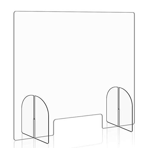 Tragbare Glasplatte, transparenter Schutzabdeckung Niesschutz Antivirus 23.62in * 23.62in * 0.2in Partition in Büros Bankschalter und andere Gelegenheiten.