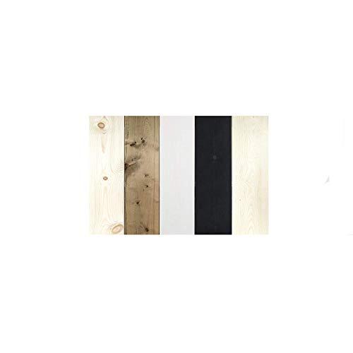 Decowood - Cabecero Vintage para Cama de Dormitorio, Madera de Pino, Combinado Multicolor Pizarra - Fabricado a Mano en España - Medidas 100 x 60 cm (Cama 80/90cm)