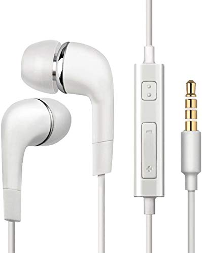 Fedus Noise Cancellation Wired Earphone Wired Headphone (White, in The Ear) Wired Headset with Mic