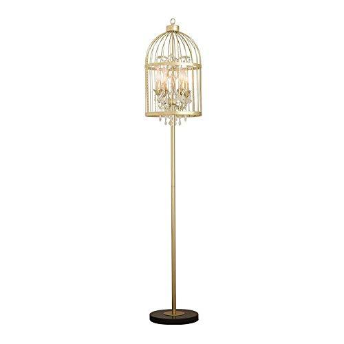 Tyannan Creativa de oro de lujo Birdcage lámpara de piso de la sala dormitorio lámpara de cabecera de lectura Estudio lámpara de mesa vertical