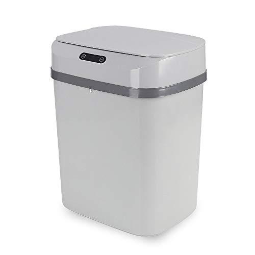 Cubo de Basura con Sensor Automático RAYPOW · Papelera Inteligente de 13 Litros para Cocina, Dormitorio, Baño Y Oficina · Color Gris