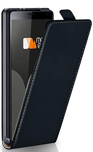 MoEx® Flip Case mit Magnetverschluss [R&um-Schutz] passend für Sony Xperia 10   360° Handycover aus feinem Premium Kunst-Leder, Schwarz