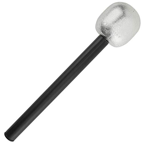 Skeleteen Stage Mic Costume Prop - Rock Star Toy Microphone Party Favor Decorative Props Costume Accessory - 1 Piece
