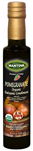 Mantova Organic Pomegranate Balsamic Vinegar of Modena, Perfect for Salad Dressing, Pasta Salad, Ice Cream and Cocktails, 8.5 oz (Pack of 6)