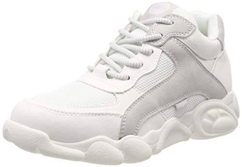 Buffalo Damen Cairo Sneaker, Mehrfarbig (White/Lt Grey 000), 41 EU