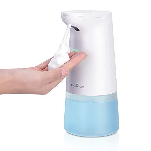 KEYNICE ソープディスペンサー usb充電式 自動 オートディスペンサー 泡 ノータッチ式 吐出量2段階調整 大容量430ml 充電式 IPX4防水 洗面台/トイレ/キッチンなどに適用 清潔対策 お子様の手洗いサポートに