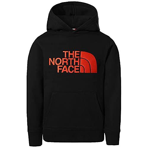 The North Face Felpa da Ragazzi con Cappuccio Drew Peak Nera Taglia XL cod 33H4-1E3