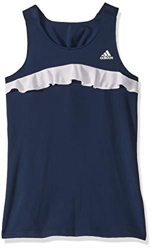 adidas Camiseta sin Mangas de Tenis para niña, Niñas, Camiseta de Tirantes Anchos, S1907W850G, Azul Marino, XS