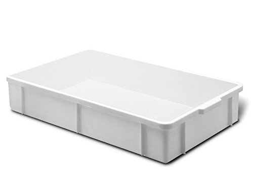 Giganplast GIG 1875 Cassetta, Bianco, 60 x 40 x 8 cm