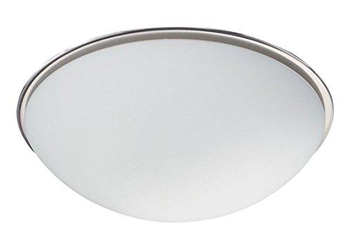 Trio Leuchten Deckenleuchte Bulto in Nickel matt, Glas opal weiß, 6107021-07