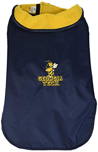 NCAA Georgia Tech Yellow Jackets All Weather Resistant Protective Dog Outerwear, XX-Small