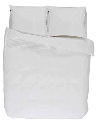 ESSENZA Bettwäsche Avery Stickerei Baumwolle Perkal Weiß, 135x200 + 1x 80x80 cm
