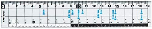 クツワ HiLiNE サイズカッター定規 19cm KB015 【× 7 個 】