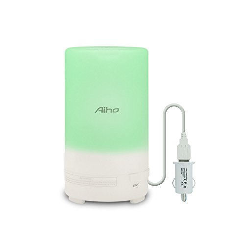 Car USB Diffuser, Aiho USB Essential Oil Diffuser ,Portable Air Purifier with 3 Timer Modes 7...