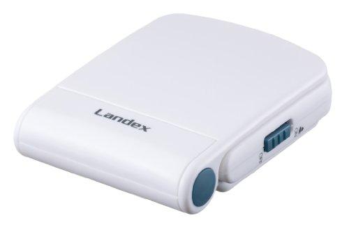 『LANDEX デジタル電波目覚まし時計 タイムフリッパーLite LEDバックライト付き ホワイト YT5221WH』の2枚目の画像