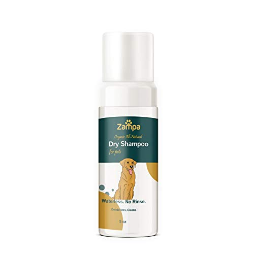 Waterless Foam Dry Shampoo for Pets 100% All Natural Organic Non Toxic Good for Sensitive Skin Formula Soothes and Moisturizes Dry Skin and Fur for Dogs & Cats
