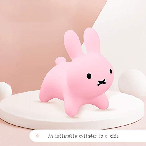 HZBTOY Kaninchen-Voltigier-Pferdeaufblasbare Kaninchen-Kinder können auf die Spaß-Spielwaren reiten, rosa