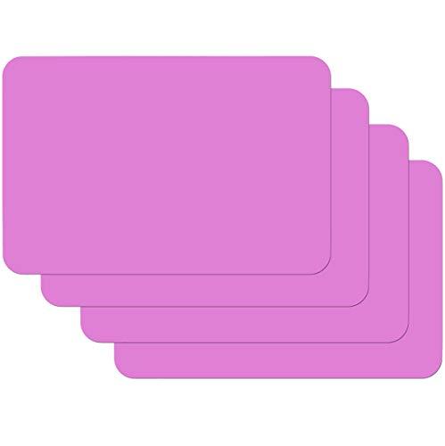 Venilia Tischset Platzset für Esszimmer Uni Fuchsia Pink 4er Set abwischbar Polypropylen, lebensmittelecht, 45 x 30 cm, 4 Stück, 59037