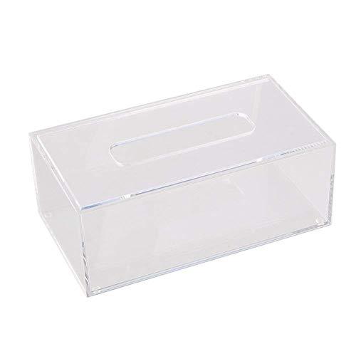 WWWANG Tamaño pequeño dispensador de pañuelos faciales, Rectangular Caja de la Cubierta del sostenedor, 7,72 * 4,92 * 3.30inch, for el baño, Kitch (Color : Clear)