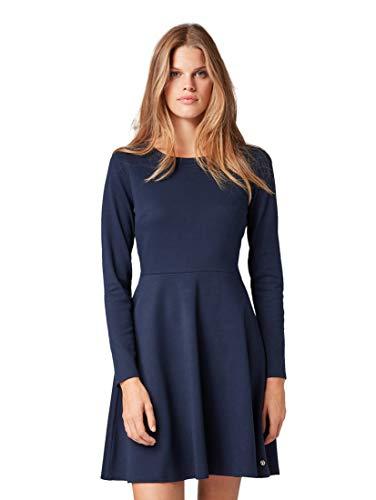 TOM TAILOR Damen Rückendetail Mini Kleid, Blau (Real Navy Blue 10360), XL