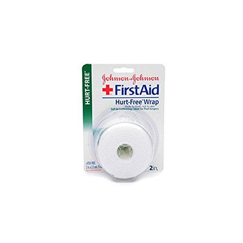 johnson johnson medical tapes Johnson & Johnson First Aid Hurt-Free Wrap (2-Inch), 1-Count Rolls (Pack of 4)