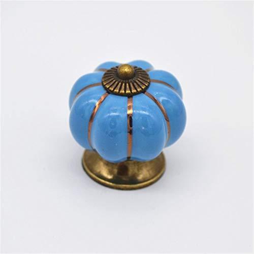 PYouo-Manijas de Armario Manijas del cajón de cerámica, Muebles de Caja perillas, manijas de Calabaza perillas, gabinete Tira, del Sitio de niños Hardware del gabinete (Color : Blue)