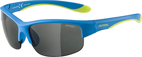 ALPINA FLEXXY YOUTH HR Sportbrille, Kinder, blue-lime, one size
