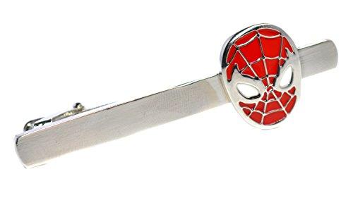 Herren Krawattennadel Spiderman, Rot und Silber