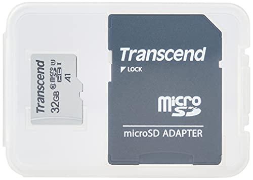 Transcend Highspeed 32GB micro SDXC/SDHC Speicherkarte (für Smartphones, etc. und Digitalkameras) / Class 10, UHS-I, A1 – TS32GUSD300S-AE (mit Adapter, umweltfreundliche Verpackung)
