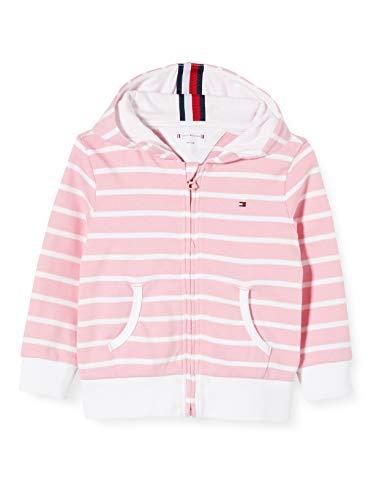 Tommy Hilfiger Unisex Baby Stripe Zip Hoodie Kapuzenpullover, Pink (Pink Tf4), 92/98 (Herstellergröße: 92)