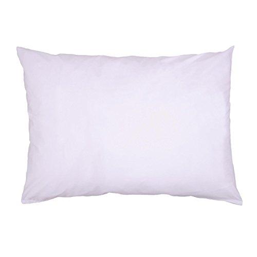Hans-Textil-Shop Kissenbezug 25x35 cm Weiß Baumwolle (Deko, Sofa, Kissen, Kopfkissen, Kissenhülle)