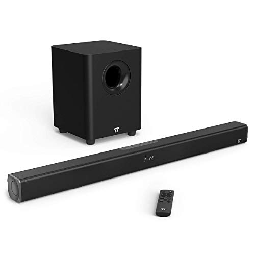 Sound Bar, TaoTronics 2.1 Channel Soundbar for TV with Subwoofers Now $54.99 (Was $110)