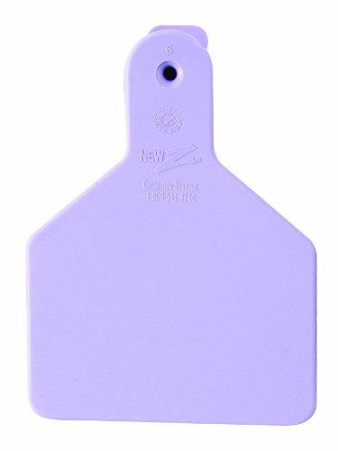 ZTags Lot de 25 étiquettes Vierges pour Mollets Violet