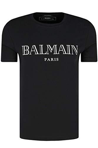 Balmain T-shirt zwart bedrukt zilver