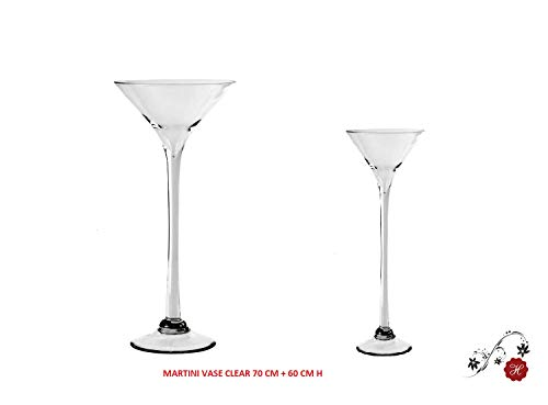 Homedelight Tischdekoration für Hochzeiten, mit Martini-Vase, 70 cm + 60 cm