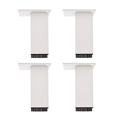 Furniture legs HXLQ verstelbare meubelpoten, vierkant aluminium sofapoten, stüppoten voor salontafels, hoogte 5~40 cm, wit - 4 stuks