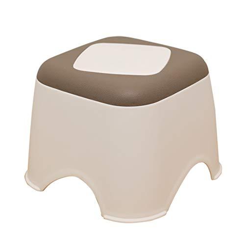WYGK Paso Taburete Taburete de Plástico,Espesamiento Uso Doméstico Taburete para Adultos Sala Cuarto Cuarto de Baño Taburete Pequeño Taburetes (Color : B, Size : Small)