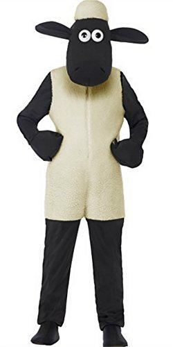 Shaun the Sheep - Costume da bambina deluxe per bambini (4-6 anni)