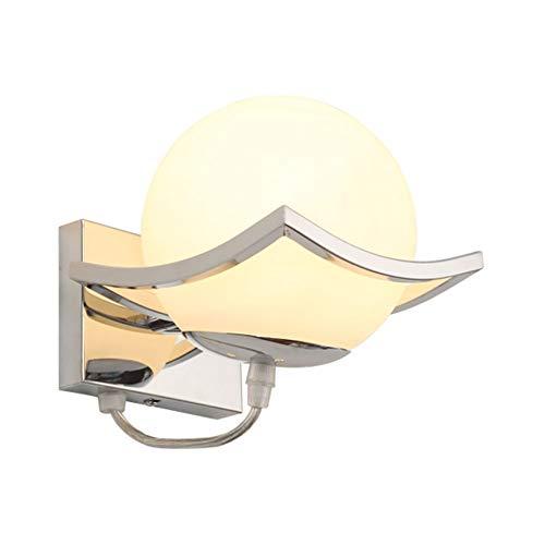 Apliques de pared Lámpara De Pared Esférica De Vidrio Personalizada, Adecuada for Accesorios De Iluminación LED De Sala De Estar Dormitorio Balcón [Clase De Energía A ++]