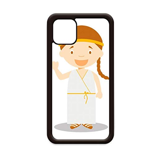 Lange witte jurk Griekenland Cartoon voor Apple iPhone 11 Pro Max Cover Apple mobiele telefoonhoesje Shell, for iPhone11