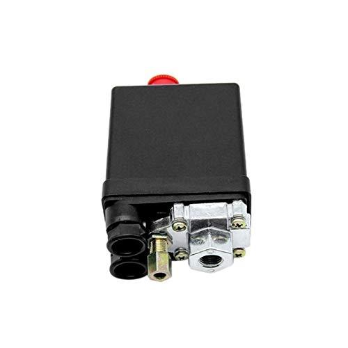 Titular del regulador de presión Válvula de control del interruptor de presión del compresor de aire de servicio pesado 90-120PSI 1/4 Puerto Regulador de presión de combustible serie B (Color : 1)