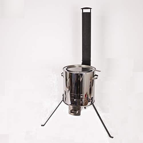 DD-Tackle Gulaschkanone, Feldküche, Gulaschkessel aus Edelstahl (auch als Eintopfofen o. Glühweinkessel für ca. 9 Liter)