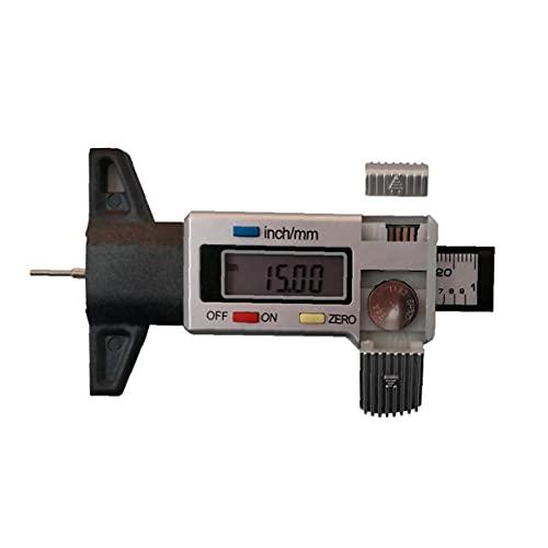Tire digital medidor de profundidad 0-25.4mm la profundidad del neumático probador con pantalla LCD medidor de profundidad Grosor del calibrador Herramienta de medición de plata de Neumáticos