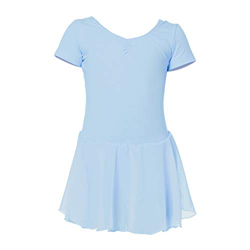 Ruffle Sleeve Skirted Dance Dress AUKARENY Ballet Leotard for Girls