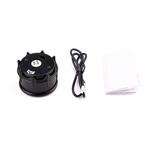 HehiFRlark 12V 52Mm Pantalla LED Mini voltímetro Digital Medidor de Voltaje Probador de voltios para automóvil Negro