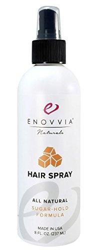 Enovvia All-Natural Hairspray, Fragrance Free Holding Spray (8 Ounces)