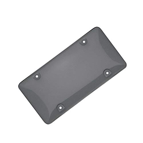 License plate bracket audi License Plate Frame Smoked Clear License Plate Cover Frame Shield Tinted Bubbled Flat Car license plate bracket audi a6 (Color : Transparent black)