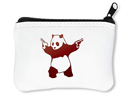 Banksy Gun Slinger Panda Grappige Grappige Coin Card Portemonneehouder
