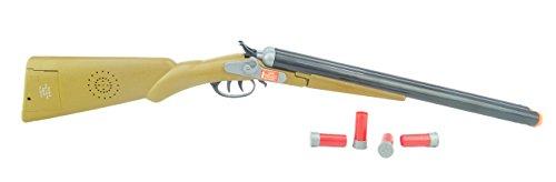 TOYLAND® 75cm de Doble Cañón Western Escopeta con Efectos de Sonido y Expulsión de los Depósitos