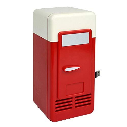 ZGNB Mini refrigerador para automóvil, refrigerador de 5 V, refrigerador portátil para automóvil, refrigerador eléctrico frío y cálido, refrigerador para Viajar y Acampar (Rojo)